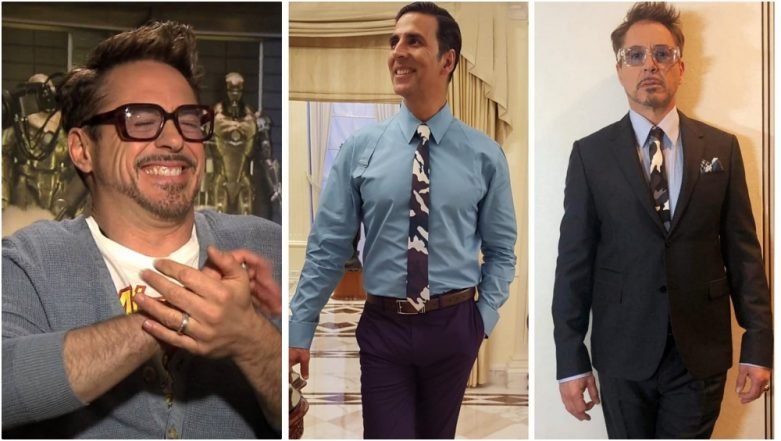 Akshay Kumar Apes Robert Downey Jr.'s Statement Givenchy Tie Look, Asks 'Who Wore It Better?'