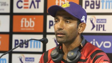 Robbin Uthappa Wears Face Mask During RR vs KKR IPL 2019 Match Following Dust Storm in Jaipur
