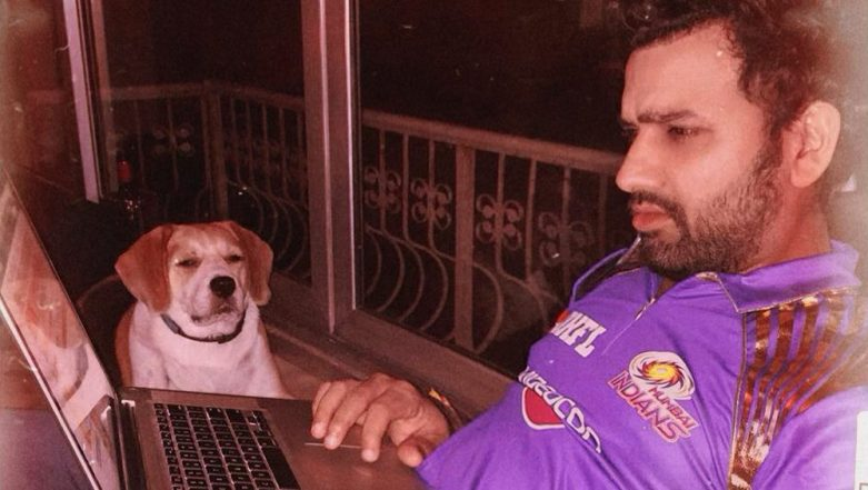 Mumbai Indians Captain Rohit Sharma Shares Cute Picture of His Pet Dog on National Pet Day 2019