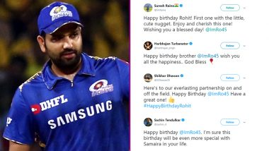 Rohit Sharma Birthday Wishes: Sachin Tendulkar, VVS Laxman, Shikhar Dhawan & Others Send Birthday Greetings to the 'Hitman'
