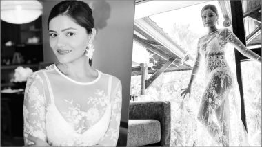 Rubina Dilaik Leaves Little to The Imagination in a Daring Embroidered Sheer Dress! View Hot Pics of Indian TV Actress