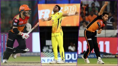 SRH vs CSK, IPL 2019 Match 33, Key Players: David Warner to Deepak Chahar to Bhuvneshwar Kumar, These Cricketers Are to Watch Out for at Rajiv Gandhi International Stadium