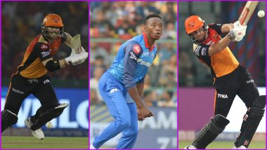 SRH vs DC, IPL 2019 Match 30, Key Players: David Warner to Kagiso Rabada to Jonny Bairstow, These Cricketers Are to Watch Out for at Rajiv Gandhi Stadium in Hyderabad