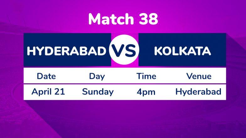 SRH vs KKR, IPL 2019 Match 38 Preview: Sunrisers Hyderabad Look to Continue Winning Run Against Kolkata Knight Riders
