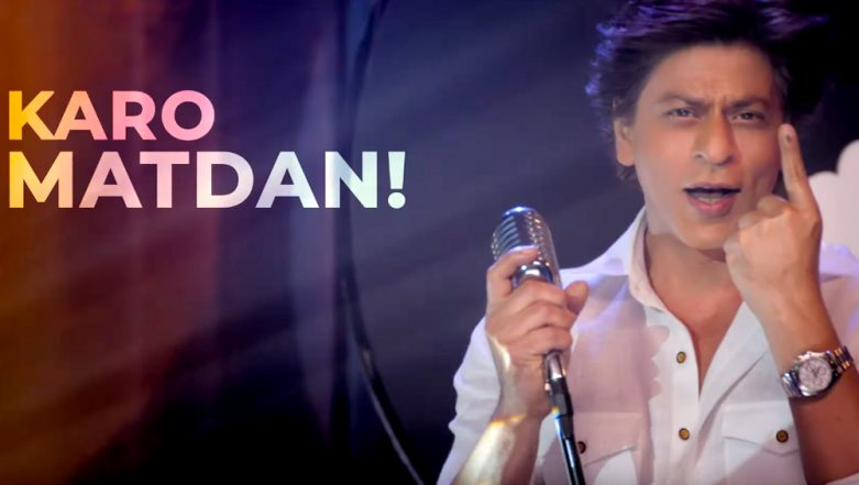 Shah Rukh Khan Heeds PM Narendra Modi's Twitter Appeal and Makes a Rap Music Video Asking People to Vote in 2019 Lok Sabha Elections!