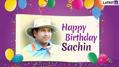 Sachin Tendulkar Birthday: Twitterati Line-up to Wish God of Cricket on his 46th Birthday