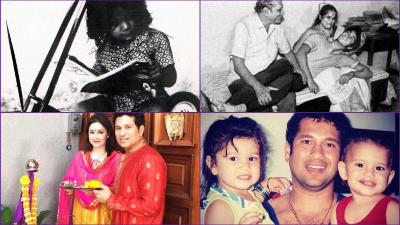 Sachin Tendulkar Birthday Special: See Childhood and Family Pictures of the 'God of Cricket' As He Turns 46