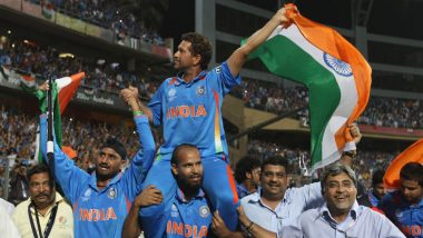 Sachin Tendulkar Remembers India's 2011 Cricket World Cup Victory on 8th Anniversary, Watch Video