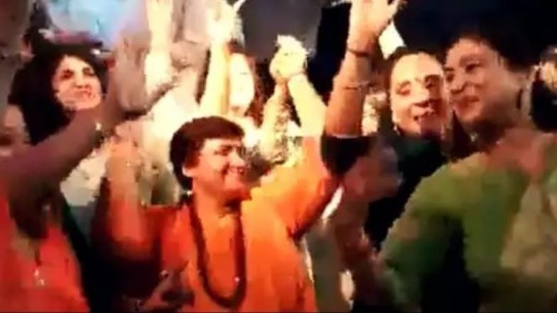 Sadhvi Pragya Singh Thakur Seen Dancing on a Sindhi Song in Bhopal With Other Women, Watch Video