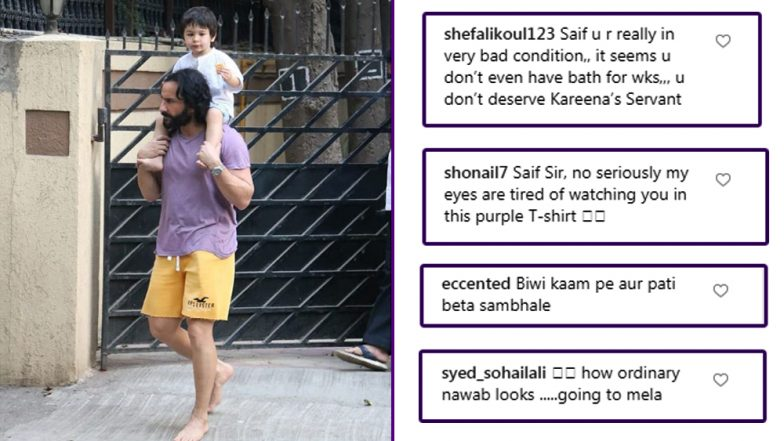 This Time It's Not Taimur Ali Khan but Saif Ali Khan's No Chappal, Not-So-Impressive Attire Grabs Netizens' Attention - See Pic