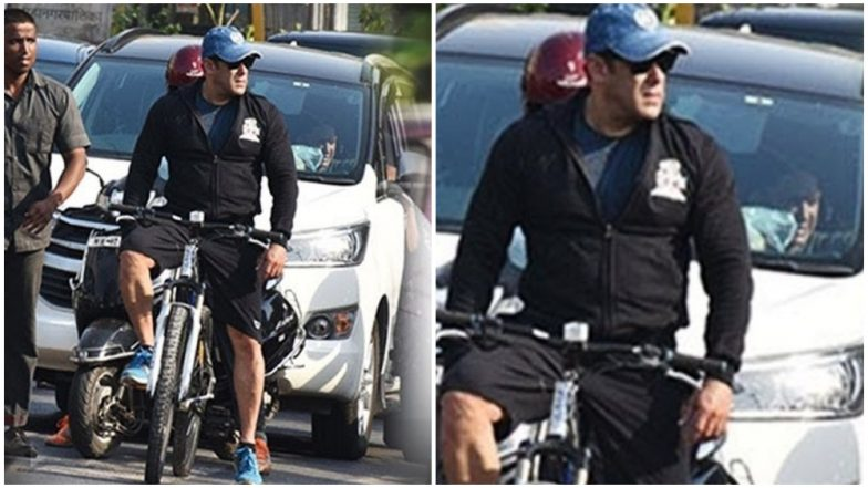 Salman Khan Surprises Fans as He Cycles on Busy Streets of Mumbai-Watch Video