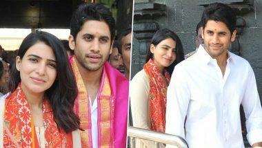 Naga Chaitnaya and Samantha Akkineni aka ChaySam Visit Tirupati Ahead the Release of Majili – See Pics