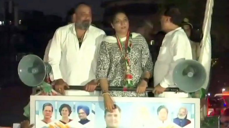 Sanjay Dutt Campaigns For Sister Priya Dutt in Mumbai North Central Lok Sabha Seat, Holds Roadshow