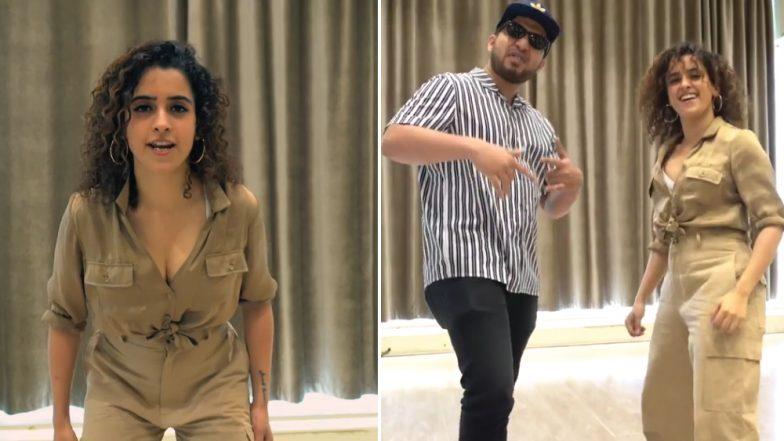 Sanya Malhotra's Latest Dance Video With Rapper Naezy on Aafat Wapas Has Made the Internet Go 'Bohot Hard!'