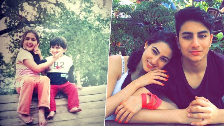 National Siblings Day 2019: Sara Ali Khan Shares a Cute Throwback Pic With Brother Ibrahim Ali Khan!