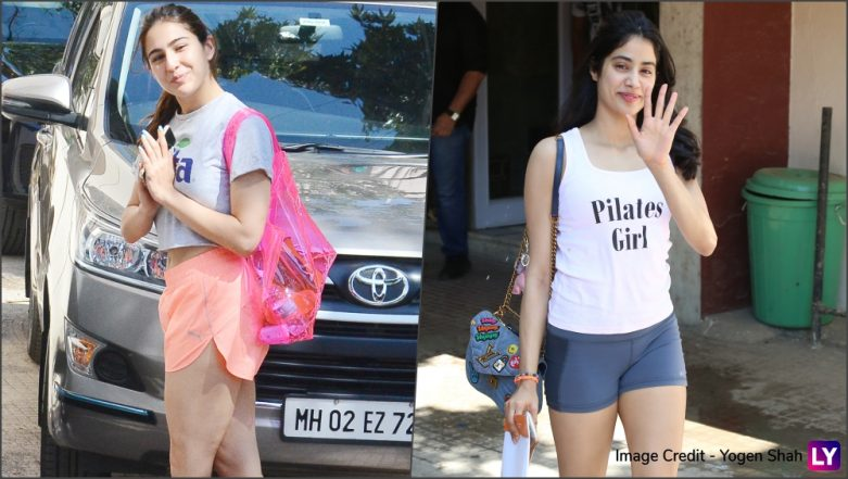 Sara Ali Khan and Janhvi Kapoor Display Glowing Skin and Gorgeous Long Legs in Their Gym Outings (View Pics)