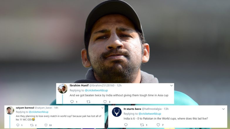 Ahead of ICC World Cup 2019, Sarfaraz Ahmed Trolled Brutally for His Comment 'Will Take Every Match as a Match Against India'
