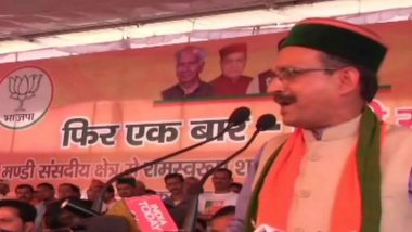 Himachal Pradesh BJP Chief Satpal Singh Satti Warns Critics, Says 'Will Cut Off Hands of Those Who Raise a Finger at PM Narendra Modi'