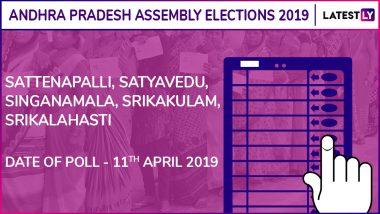 Sattenapalli, Satyavedu, Singanamala, Srikakulam, Srikalahasti Assembly Elections 2019 Results: Candidates, Names of Winning MLAs of Andhra Pradesh Vidhan Sabha Seats