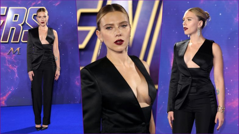 Avengers: Endgame Star Scarlett Johansson Makes Jaws Drop With Daring Tom Ford Pantsuit (View Pics)