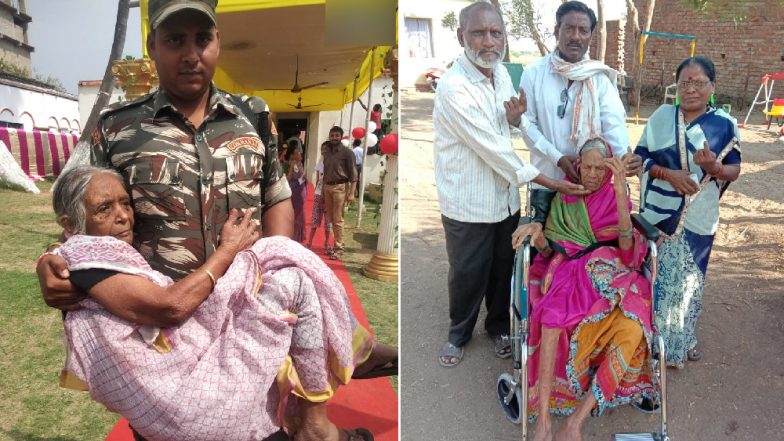 Senior Citizens Head Out To Vote In Phase 2 of Lok Sabha Elections 2019; 105-year-old Woman Among Voters in Maharashtra (See Pictures)