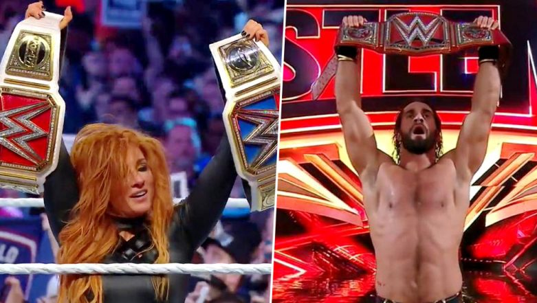 WrestleMania 35 Results and Highlights: Becky Lynch, Kofi Kingston and Seth Rollins Become New Faces for Championship Title (Watch Video)