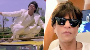 #25YearsOfAnjaam: Shah Rukh Khan is Shocked By This Stunt Scene of His and Warns Fans From Attempting It - Watch Video