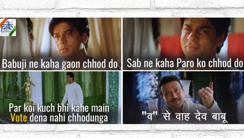 Shah Rukh Khan Dialogues Are a Big Hit This Lok Sabha Elections 2019 Season! Check Out How Govt Takes 'Devdas' Route to Promote Voting