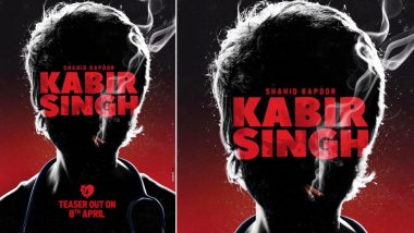 Kabir Singh Teaser Poster: Shahid Kapoor, Shrouded in Darkness and Smoke, is Heading Towards Self-Destruction - View Pic