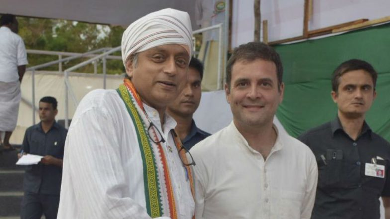 Shashi Tharoor Campaigns Day After Injury, Earns Rahul Gandhi's Praise