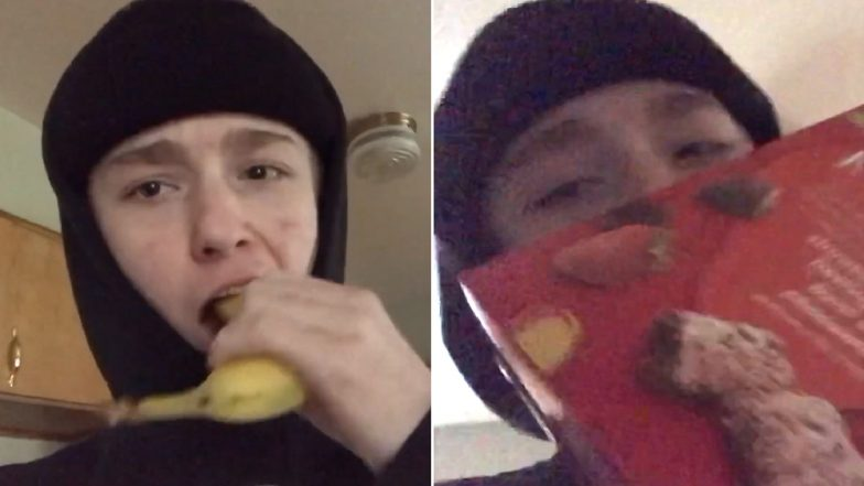 'Shell On Challenge,' The Latest Dangerous Social Media Trend Where Teens Eat Food With Packaging and Shells (Watch Video)