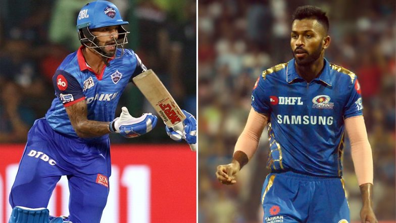 DC vs MI IPL 2019: Mumbai's All-Rounder Hardik Pandya Greeted by Delhi Batsman Shikhar Dhawan With Gabbar Dance (Watch Video)