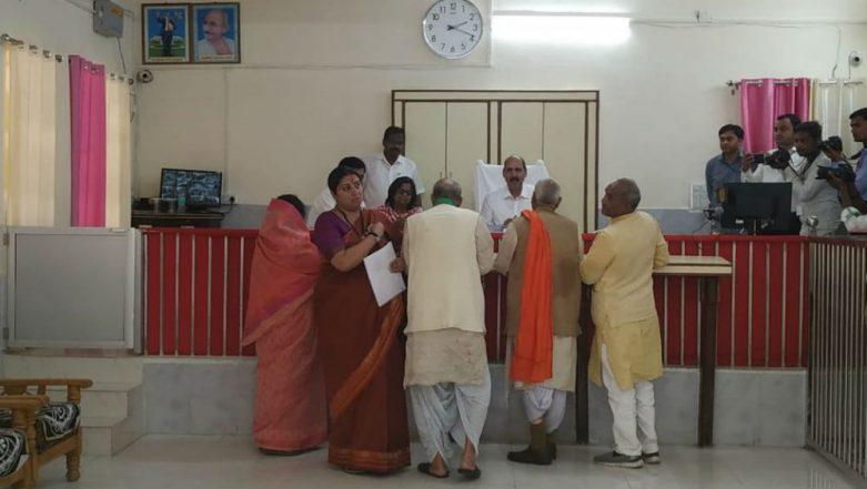 Smriti Irani Files Nomination From Amethi Lok Sabha Seat Against Rahul Gandhi