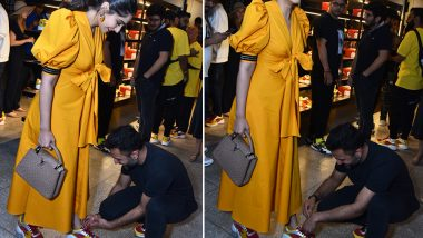 Anand Ahuja Ties Wife Sonam Kapoor's Shoe Lace and Here Come Pregnancy Rumours – See Pics