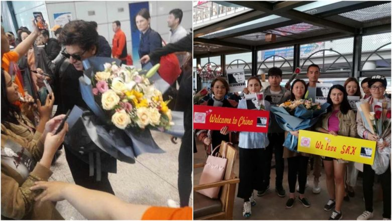 Shah Rukh Khan Receives Loud Cheers from Fans on his Arrival in China, Says He's All 'Red' With the Warm Welcome (Watch Videos)