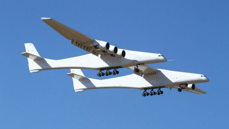 Stratolaunch, World's Largest Airplane Makes First Test Flight in California