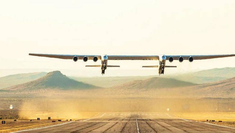 Stratolaunch: World's Largest Aircraft by Aerospace, Takes Off its First Flight (Watch Video)