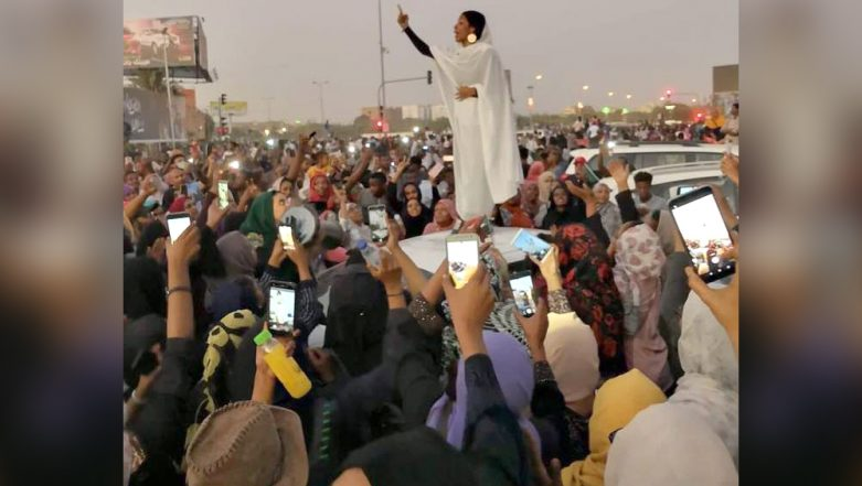 Nubian Queen: Viral Pic of Woman Leading Anti-Government Dissent in Sudan Becomes a Historic Symbol of the Protest