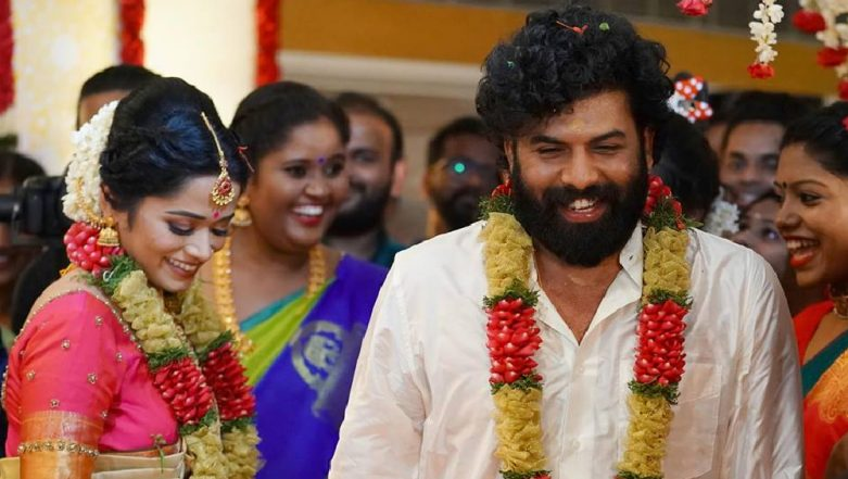 Newly Married Couple Sunny Wayne and Renjini Kunju Thank Everyone for Their Wishes and Blessings! See Pic