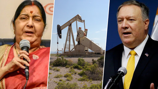Image result for pics of pompeo and swaraj