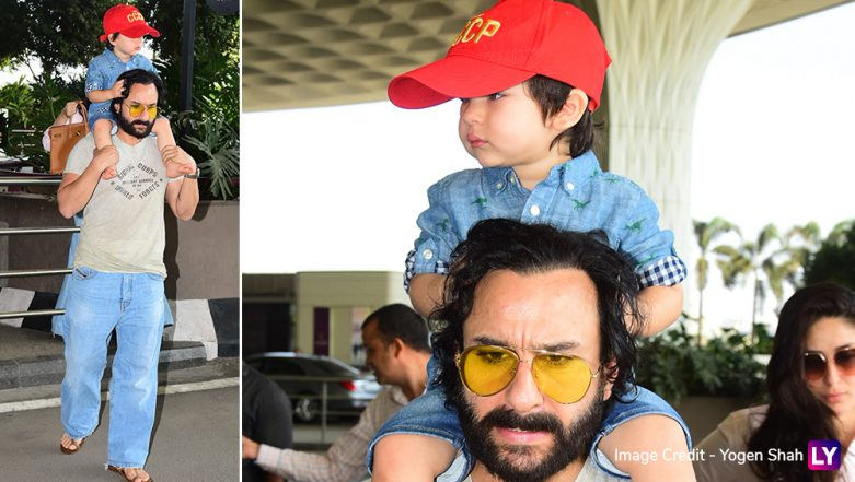 Taimur Ali Khan Is In No Mood To Smile Despite Looking Super-Cool in That Red Cap! (View Pics)