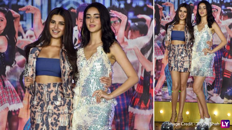 Ananya Pandey Or Tara Sutaria: Who Impressed You More With Her Flashy and Glittery OOTD? View Pics