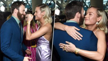 Brie Larson And Chris Evans, The Two Captains Of MCU Hug It Out At The Avengers: Endgame Premiere! View Pics