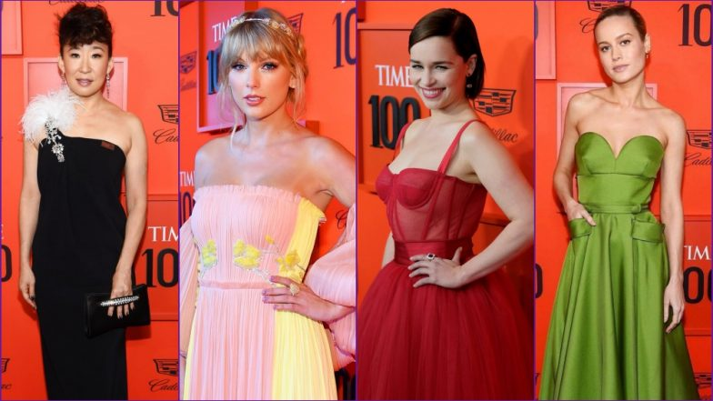 Time 100 Gala Red Carpet: Taylor Swift, Brie Larson, Sandra Oh, Emilia Clarke Look Stunning In Aesthetic Gowns - View Pics!