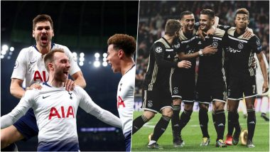Tottenham Hotspur vs Ajax, Champions League Semi-Final Live Streaming Online: How to Get UEFA CL 2018–19 Leg 1 Match Live Telecast on TV & Free Football Score Updates in Indian Time?