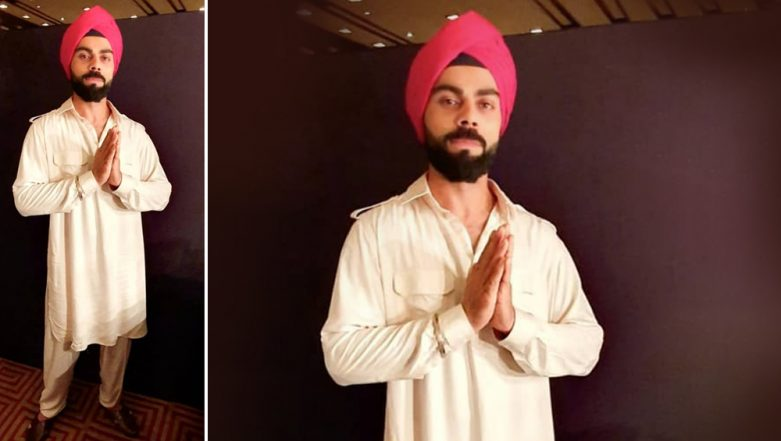 Virat Kohli Dons Pink Turban and Pathani Suit in Latest Instagram Post, Is it the Look for His New Commercial?