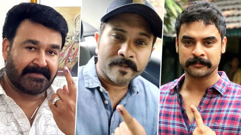 Lok Sabha Election 2019 Phase 3: Mohanlal, Aju Varghese, Tovino Thomas and Others Cast Their Vote in Kerala (View Pics)