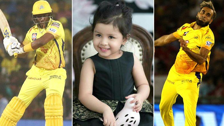 MS Dhoni's Daughter Ziva Plays With Imran Tahir and Dwayne Bravo Post KKR vs CSK IPL 2019 Match, Watch Video