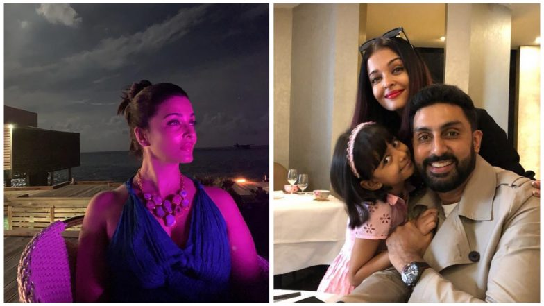 Abhishek Bachchan and Aishwarya Rai Ring in 12th Wedding Anniversary with a Moon Lit Dinner – See Pic