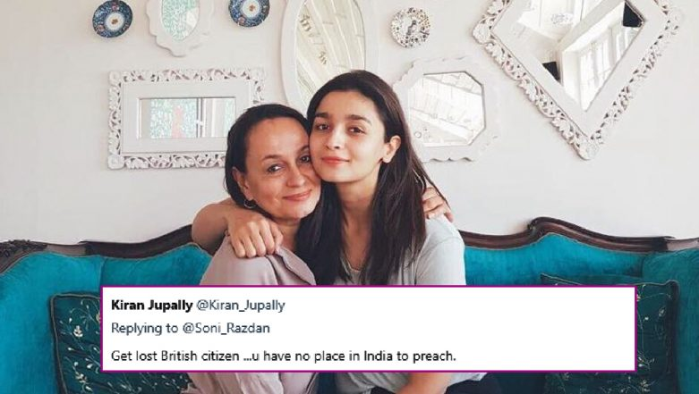 Soni Razdan Gives a Fitting Reply to Hateful Trolls on Being a British Citizen